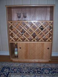 "Wine cabinet: 43""high x 33""wide x 12""deep   $120.00"