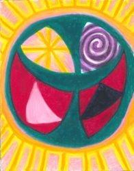 Held In The Sphere Of Knowing, Oil Pastel, 11x14, Original Sold