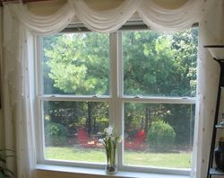 Sheer Waterfall Valance