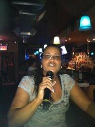 Patricia laying it down for the folks at 502 Bar Lounge Social Saturday Night Karaoke!