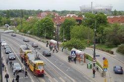 Konstal 13N Trams & the new Warsaw National Stadium