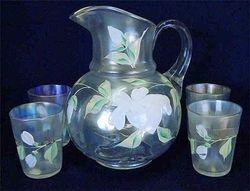 (Enameled) Lotus 5pc. water set, white