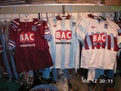 1991/92 home, away and third shirts Bukta