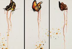 Royal Line meant to be part of a triptych including King Swallowtail and Black Prince butterflies.