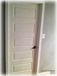 Bed room door installation