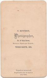 C. Eppert, photographer of Terre Haute, IN - back