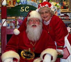 Santa and Mrs. Claus at Toystore