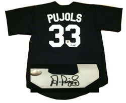 ALBERT PUJOLS AUTOGRAPHED MAPLE WOODS COMMUNITY COLLEGE JERSEY