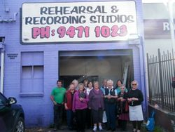 The Choir outside the Recording Studio