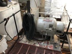 Welder in Engine Room Fidley