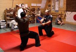 At Shizenden Ryu Hombu with Shihan Michel Belisle