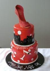 Bachelorette party cake. Aldo Gumpaste Shoe