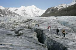 Gletsjerwandeling in groep