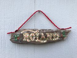 Family Name wooden ornament
