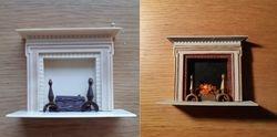 Plastic fireplace