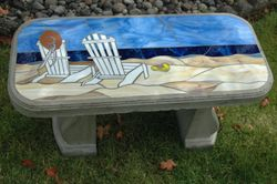 Beach Bench-Commission piece