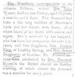 Watson, Mrs. John 1896