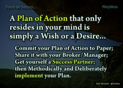 Commit and Implement your Plan of Action