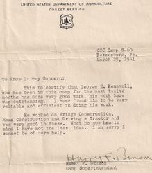 George Kenawell Recommendation Letter