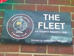 Ebbsfleet United FA Trophy winners 2008 plaque