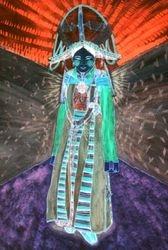 Tibetan Festival Costume (inverse image)