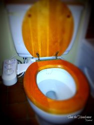 Compact bidet with twin nozzels installed