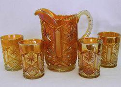 Star and File water set, marigold