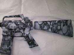 AR 15 White Base and Skulz