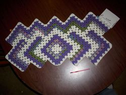 first set of 7 side rows finished.