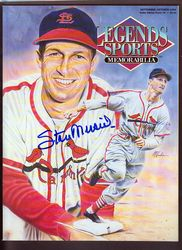 2 TWO AUTOGRAPHS! STAN MUSIAL HAND SIGNED MAG.HAND SIGNED COA FROM STAN THE MAN
