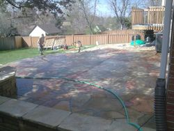 Acid wash on new patio