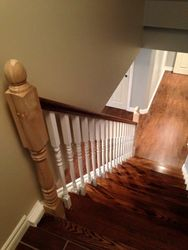 Railing, treads nad risers installation