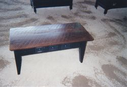 Coffee Table with Rustic Top