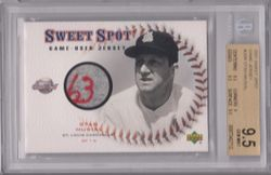 2001 Sweet Spot Stan Musial Cardinals 1963 Game Jersey *Stitched 1/1 BGS 9.5 Gem Mint