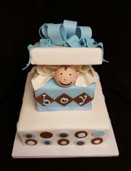 Peek-a-boo Baby Shower Cake