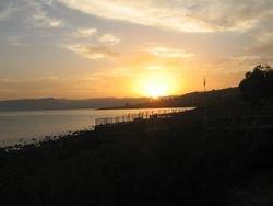 Atardecer en Cafarnaun