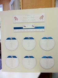 Ribbon and Heart Table Plan Round