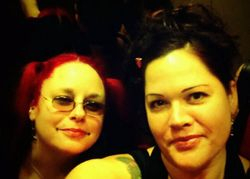 Robin & I in the elevator @ Philly '11