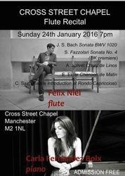 Uk premieres POSTER Felix Niel flute, Carla Fernandez Boix, piano