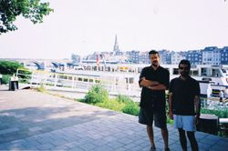 With Victor, Venlo, Netherlands, 2001