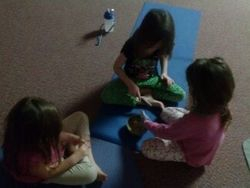 Enjoying girl time in a small group at Yoga!!!