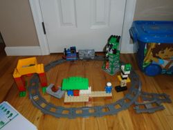 LEGO Duplo Thomas Load and Carry Train Set & Cranky The Crane Set - $60