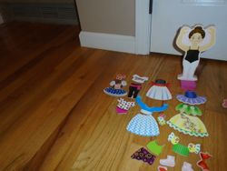 Melissa & Doug Deluxe Nina Ballerina Magnetic Dress-Up - $5