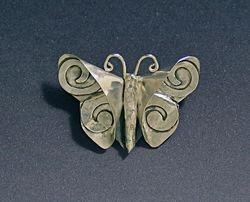 Butterfly with Swirls Brooch