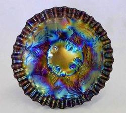 "Dugan Cherries crimped  6"" plate - purple"