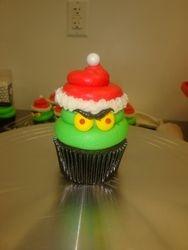 grinch cupcake $5