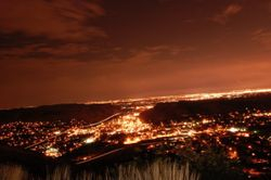 Golden Colorado at night