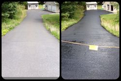 Old Dry Driveway vs. New Sealcoated