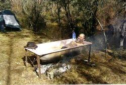 2005 Henning in the bath!