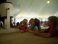 Kids watch the raffle